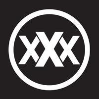 Symbole de symbole icône XXX vecteur
