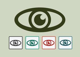 Icône d'oeil symbole signe vecteur