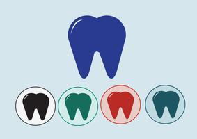 Symbole d'icône de la dent vecteur