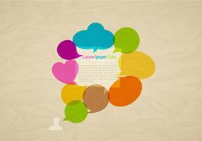 Vecteur de fond de bulles de discours colorés