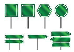 panneaux de direction symbole signe vecteur
