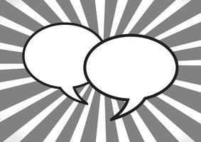 Signe de symbole de bulles de parole