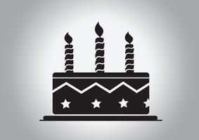 Icône de gâteau d'anniversaire