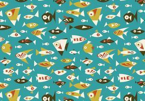 Motif de vecteur sans soudure aux poissons