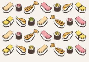 Sushi Vector Pattern