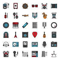 jeu d'icônes de musique