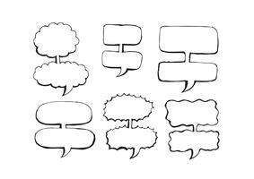 Discours de bulle dessiné main croquis vecteur
