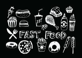 icônes de la restauration rapide vector symboles