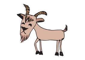 illustration de dessin animé de chèvre vecteur