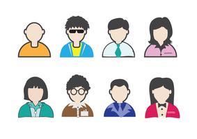 ensemble d'icônes de personnes vecteur