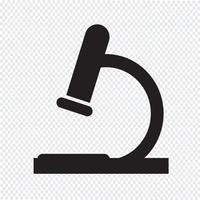 signe de symbole icône microscope vecteur