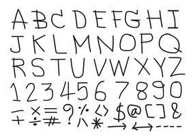Polices de lettres dessinées à la main