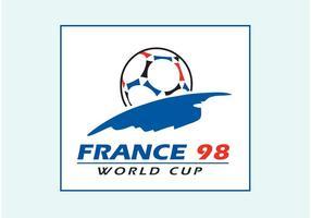 Logo de la Coupe du Monde 1998 FIFA vecteur