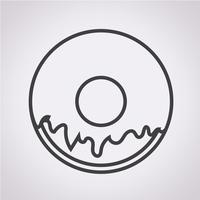 Donut Icône symbole signe