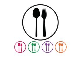 Cuillère et fourchette vecteur