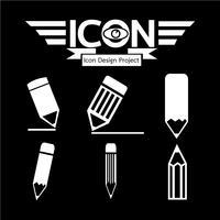 crayon icône symbole signe vecteur