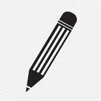 Signe de symbole icône crayon vecteur