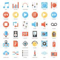 interface utilisateur musicale vecteur