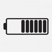 Icône de symbole de batterie