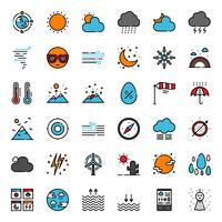Icône de contour des prévisions météo
