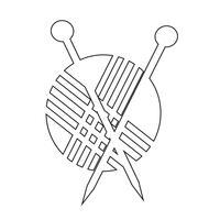 signe de symbole icône de tricot