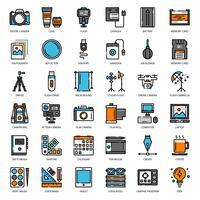 Photographe et designer gadget vecteur