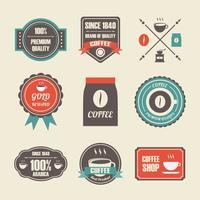 étiquette de café rétro