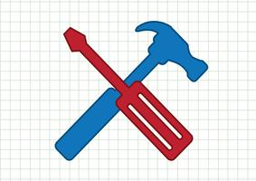 Outils et marteau icon