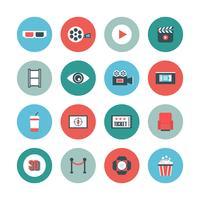 icône plate de cinéma vecteur