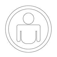 Signe de symbole icône personne