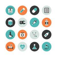 jeu d'icônes d'hôpital