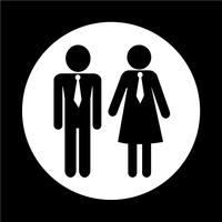 homme et femme icône de contacts vecteur