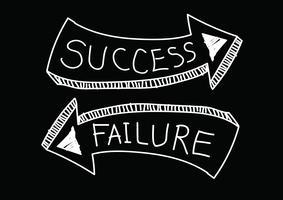 Symbole de succès et d'échec vecteur