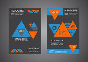 conception de la couverture triangle moderne vecteur