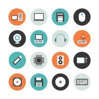 icône de contour de matériel informatique vecteur