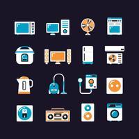 icône plate de la machine électrique