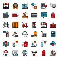 icône des achats en ligne vecteur