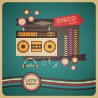 affiche du parti discothèque boombox vecteur
