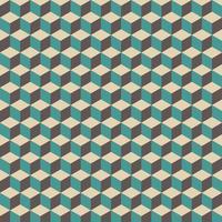 motif de cube rétro vecteur