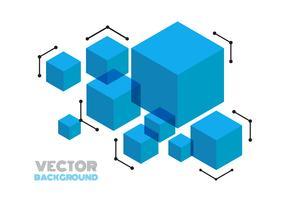 cube moderne abstrait vecteur