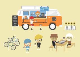 Café mobile vecteur