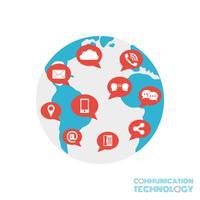 monde de la communication vecteur