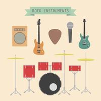 instrument de musique rock vecteur