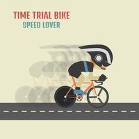 hipster cycliste à vélo vecteur