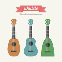 ukulélé, instrument de musique hawaïen vecteur