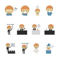 icône de routine de travailleur vecteur