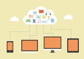 fond de serveur cloud