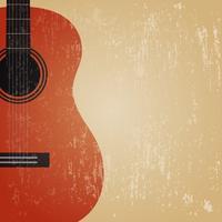 guitare classique grunge vecteur