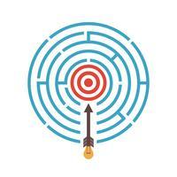 cible dans le labyrinthe vecteur
