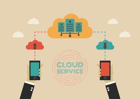 transfert vers le cloud vecteur